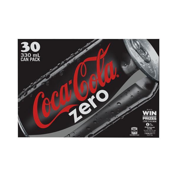Coca Cola Soft Drink Coke Zero 9.9L (330ml x 30pk)
