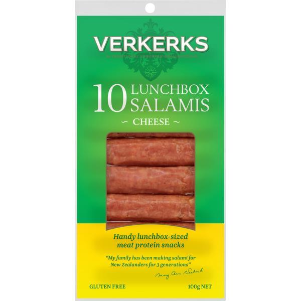 Verkerks Lunchbox Salami Cheese 100g