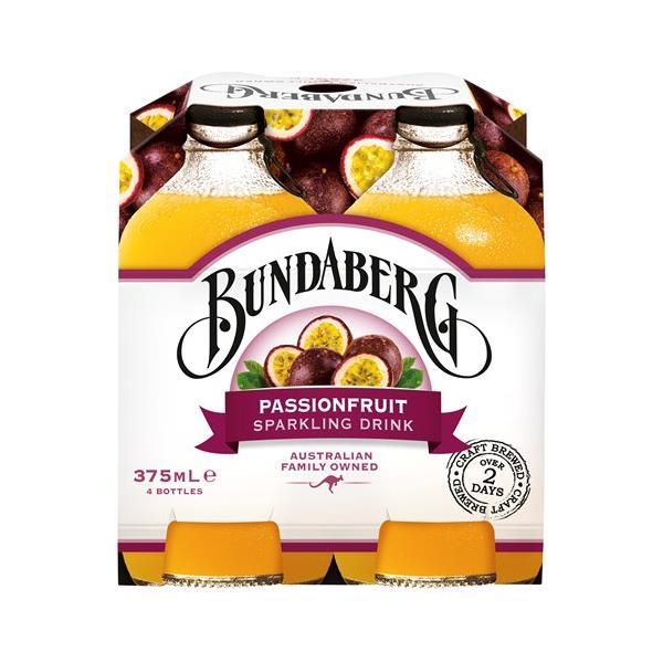 Bundaberg Sparkling Passionfruit 1500ml (375ml x 4pk)