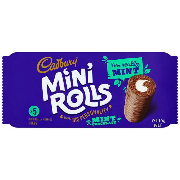 Cadbury Cake Roll Mint Minis 5pk