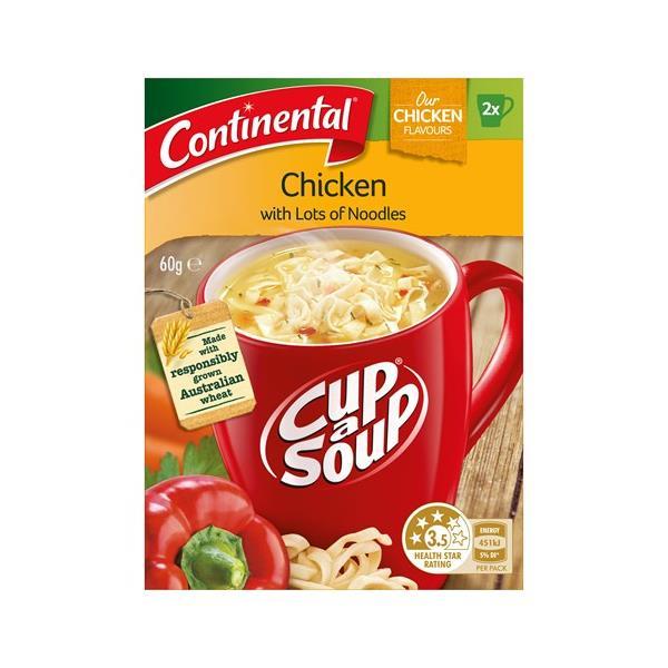 Continental Cup A Soup Instant Soup Chicken Lots A Noodles 60g (30g x 2pk)