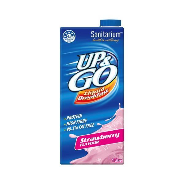 Sanitarium Up & Go Breakfast Drink Strawberry carton 1l
