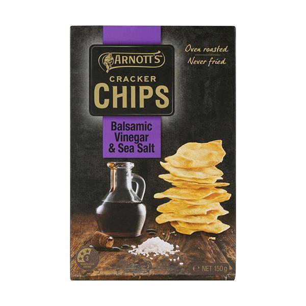 Arnotts Cracker Chips Sea Salt & Balsamic Vinegar 150g