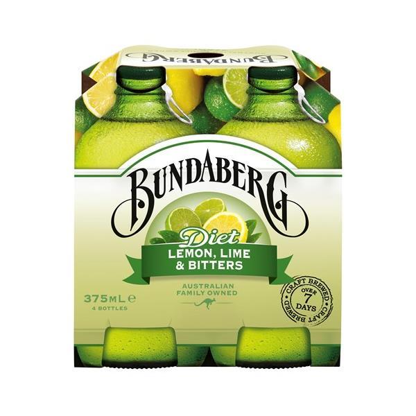 Bundaberg Lemon Lime & Bitters Diet 1500ml (375ml x 4pk)
