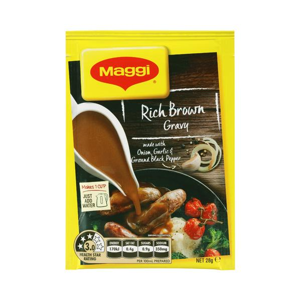 Maggi Instant Gravy Mix Rich Brown sachet 28g