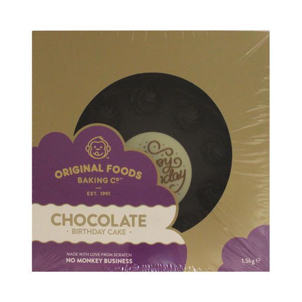 Original Foods Cake Chocolate Happy Birthday