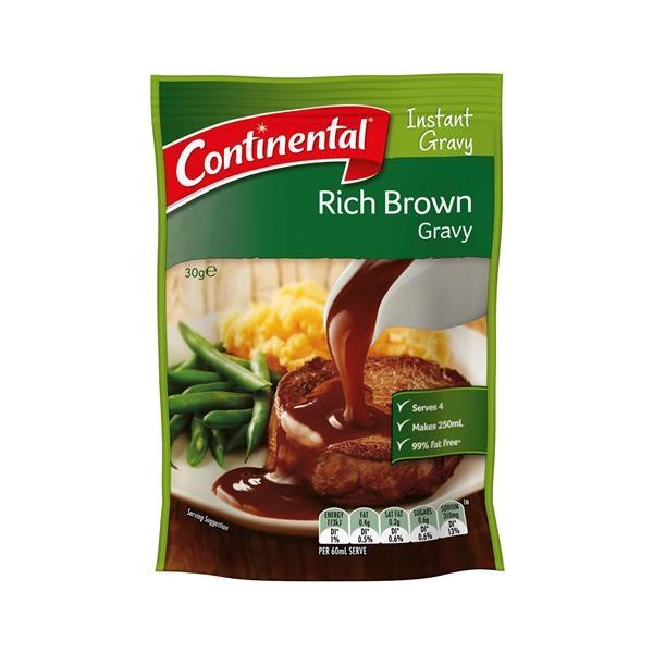 Continental Instant Gravy Mix Rich Brown sachet 30g
