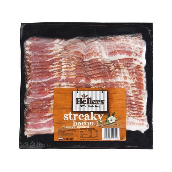 Hellers Streaky Bacon 800g
