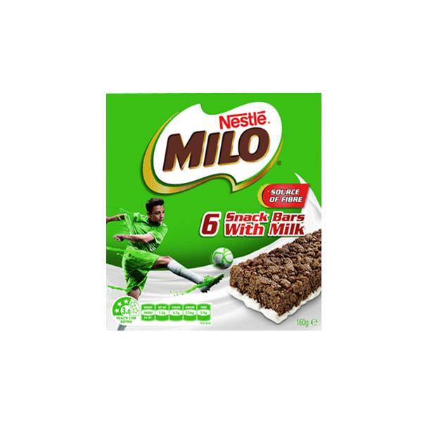 Nestle Cereal Bars Milo 6pk