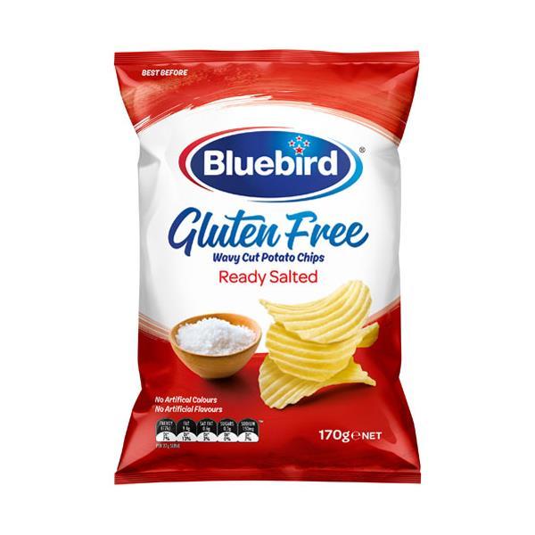 Bluebird Gluten Free Potato Chips Ready Salted 170g