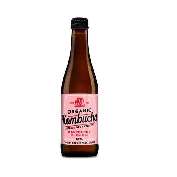 Lo Bros Kombucha Raspberry & Lemon 330ml