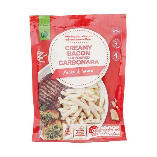 Countdown Pasta Dish Creamy Bacon Cabonara 125g