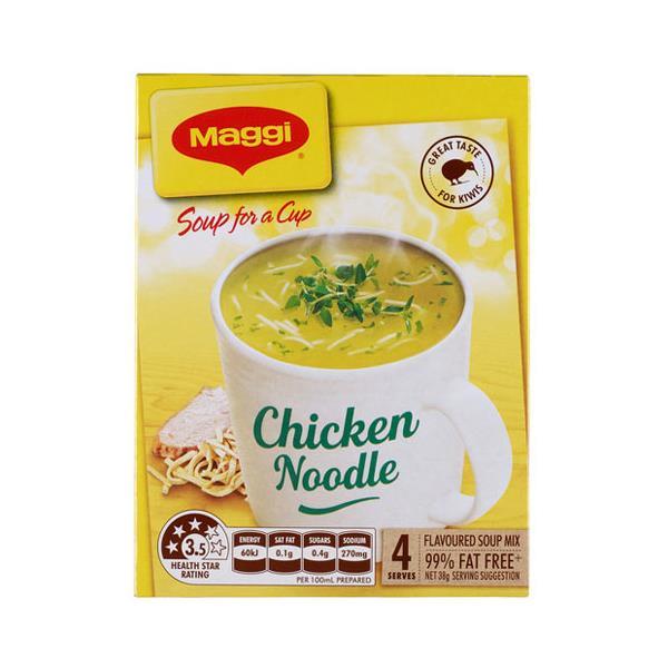Maggi Soup For A Cup Instant Soup Chicken Noodle 38g 4 serve