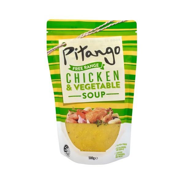 Pitango Free Range Fresh Soup Chicken & Vegetable pouch 500g