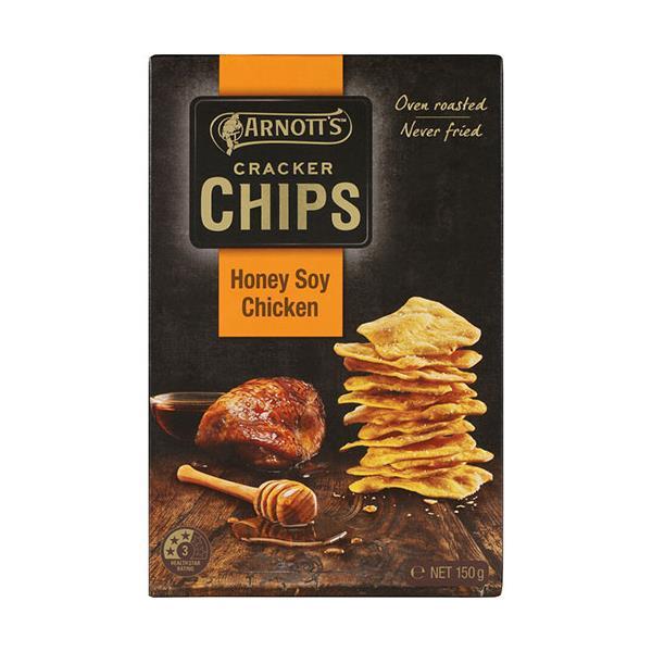 Arnotts Cracker Chips Honey Soy Chicken 150g