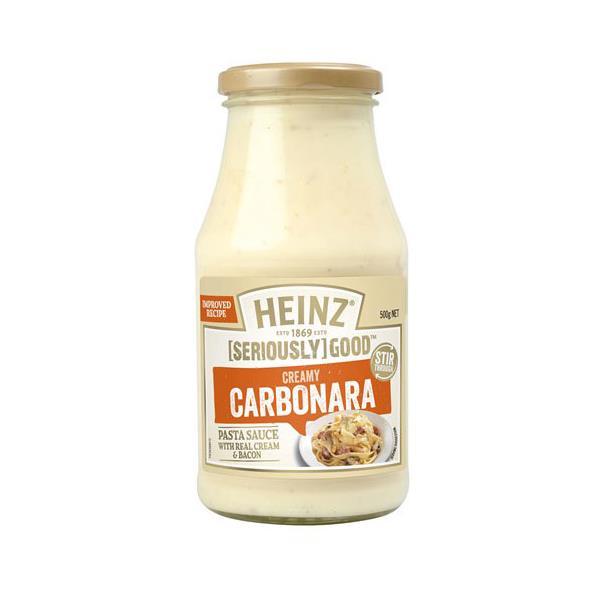 Heinz Seriously Good Pasta Sauce Carbonara 500g