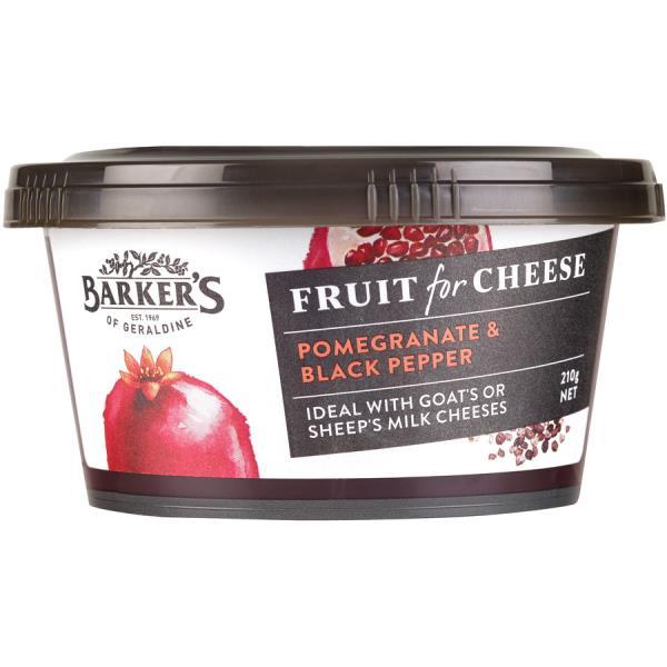 Barker's Fruit For Cheese Fruit Paste Pomegranate & Black Pepper 210g