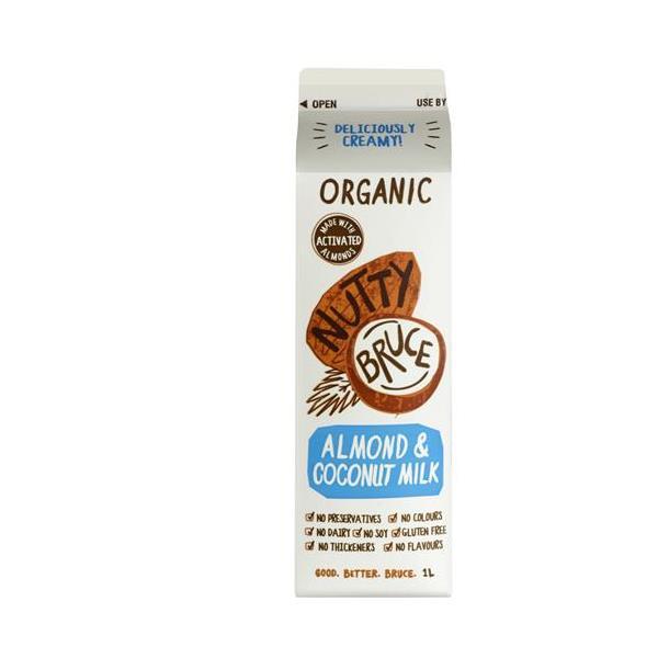 Nutty Bruce Almond & Coconut Milk Organic 1l