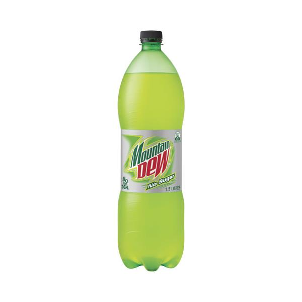Mountain Dew Soft Drink No Sugar 1.5l