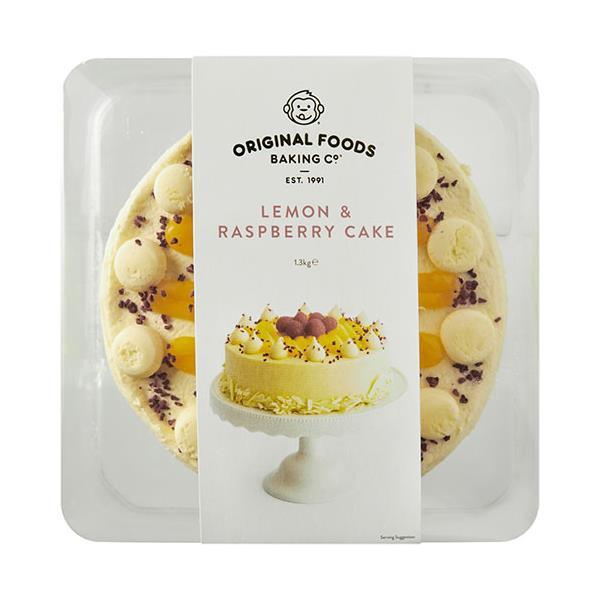 Original Foods Cake Lemon & Raspberry 8 inch