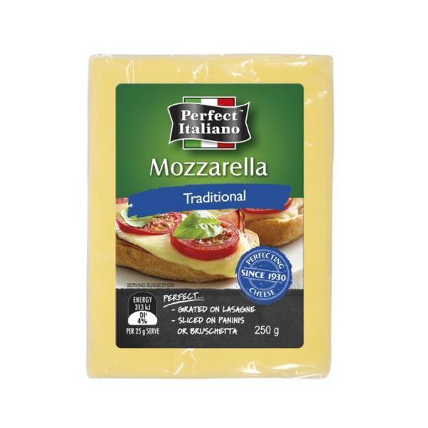 Perfect Italiano Cheese Block Mozzarella 250g