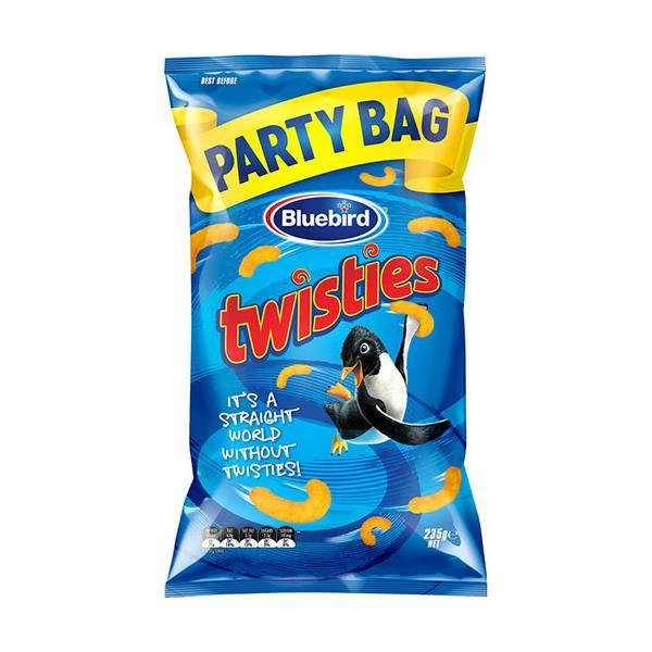 Bluebird Twisties Corn Snacks Cheese party bag 235g