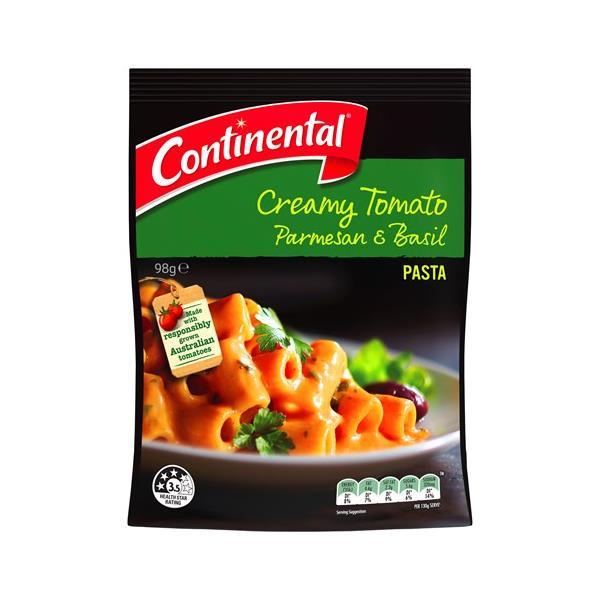 Continental Pasta & Sauce Pasta Dish Creamy Tomato Parmesan & Basil 98g