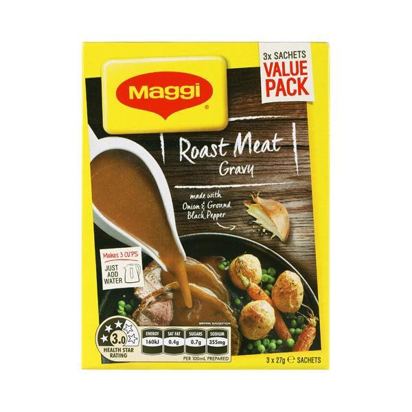 Maggi Instant Gravy Mix Roast Meat 81g (27g x 3pk)