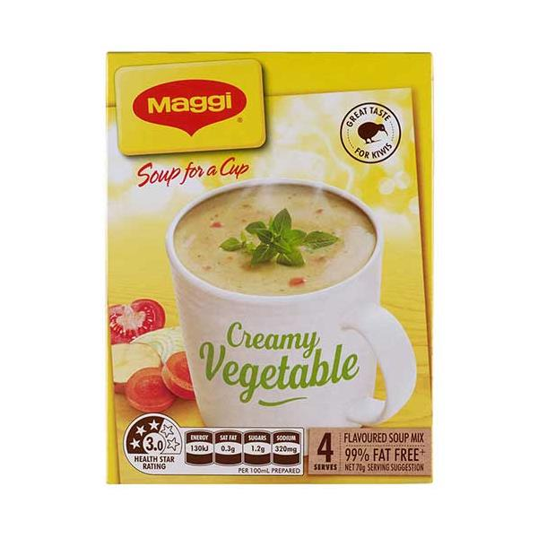 Maggi Soup For A Cup Instant Soup Creamy Vegetable 70g 4 serve