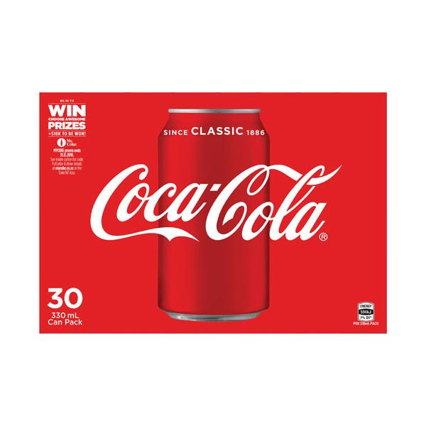 Coca Cola Soft Drink 9.9L (330ml x 30pk)