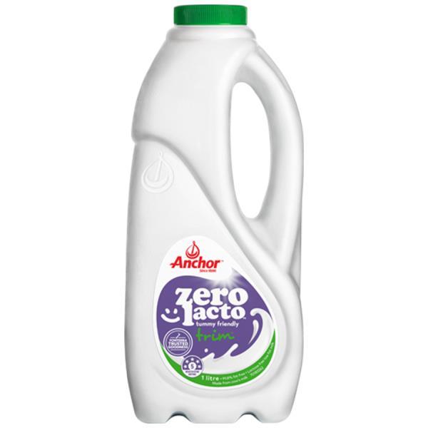 Anchor Zero Lacto Milk Trim Lactose Free 1l