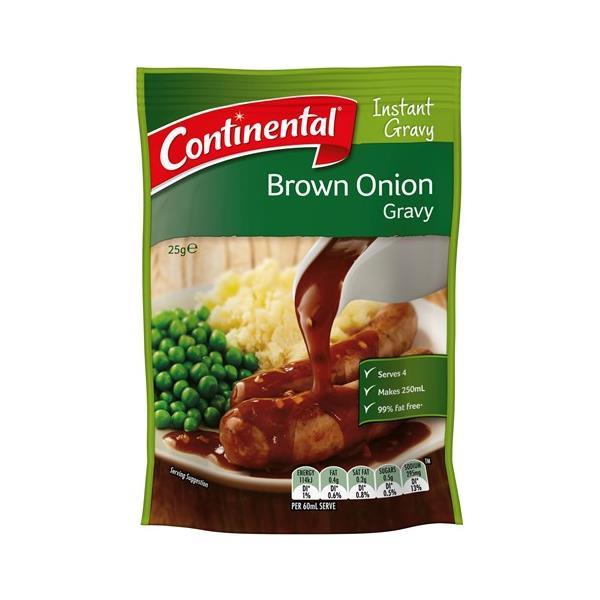 Continental Jug A Gravy Instant Gravy Mix Brown Onion sachet 25g