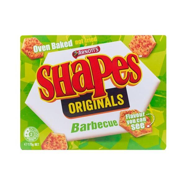 Arnott's Shapes Crackers Bbq Originals 175g