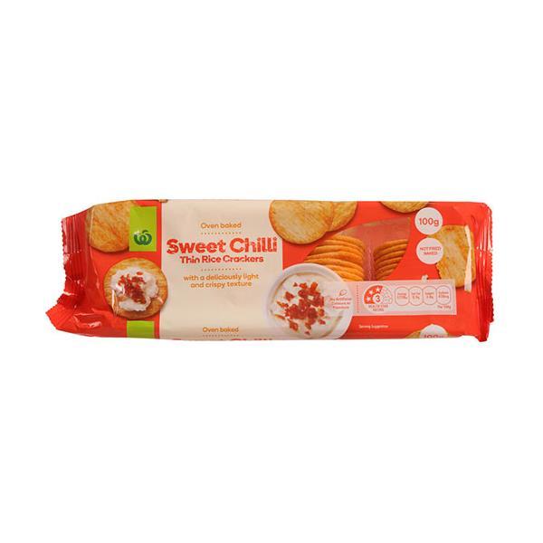 Countdown Rice Crackers Thin Sweet Chilli 100g