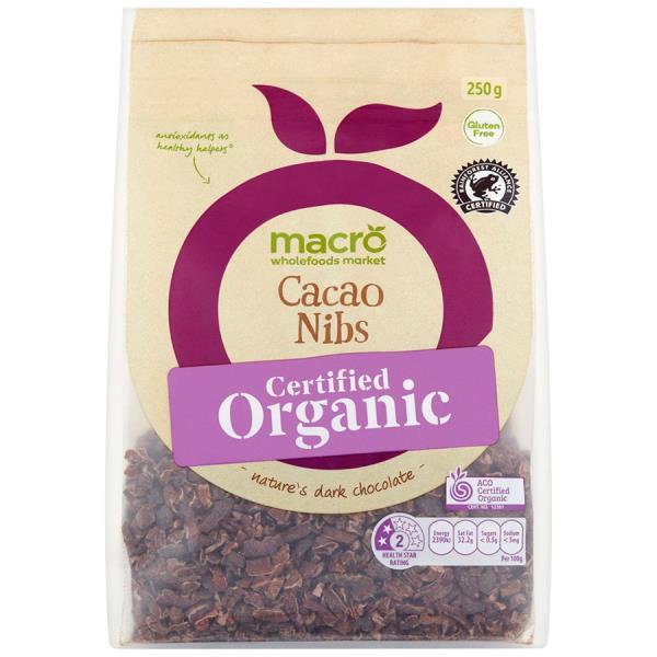 Macro Organic Cacao Nibs 250g
