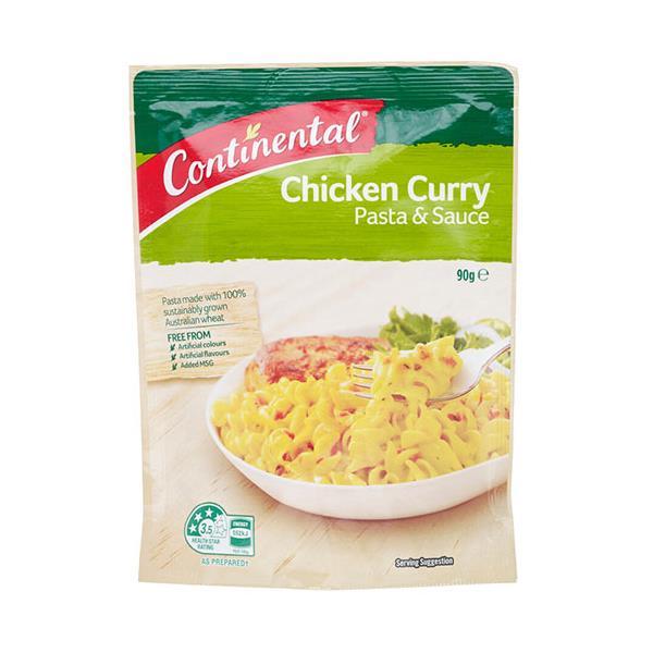 Continental Pasta Dish Chicken Curry 90g