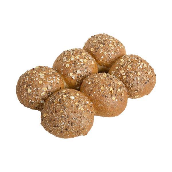 Countdown Instore Bakery Bread Rolls Wholemeal & Grain 6pk