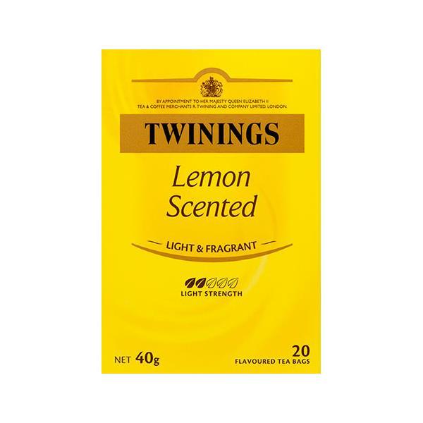 Twinings Lemon Scented Tea Bags 20ea