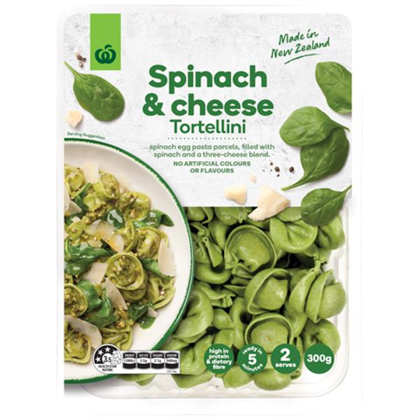 Countdown Fresh Filled Pasta Cheese & Spinach Tortellini 300g