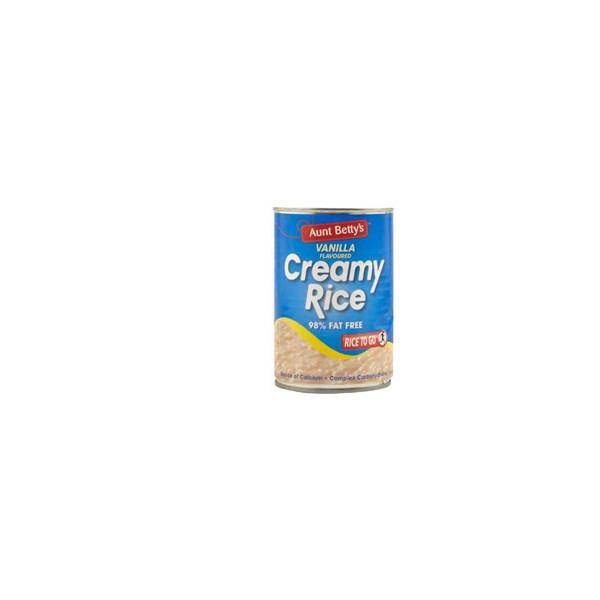 Aunt Bettys Rice 2 Go Creamed Rice Vanilla Creamy Rice 440g