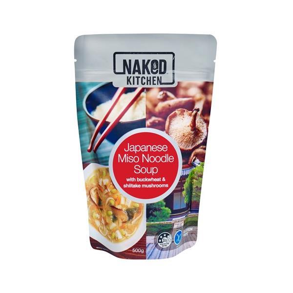 Naked Kitchen Fresh Soup Japanese Miso Noodle Soup pouch 500g
