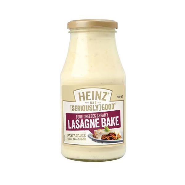 Heinz Seriously Good Pasta Sauce 4 Cheeses Pasta Bake jar 500g