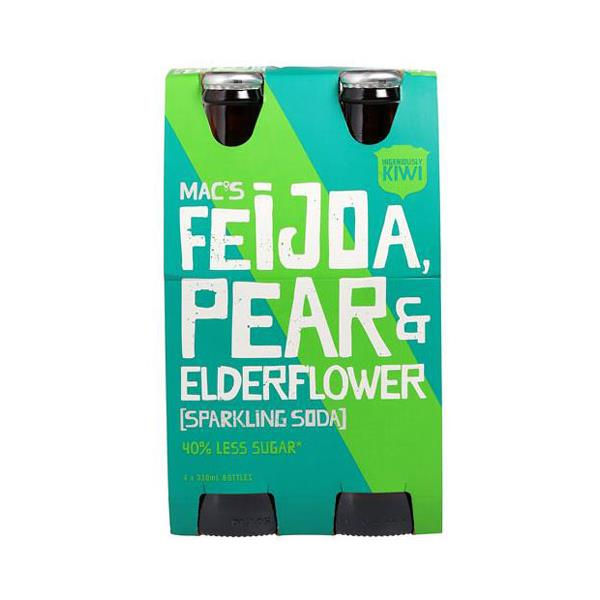Macs Soft Drink Feijoa Pear & Elderflower 1320ml (330ml x 4pk)