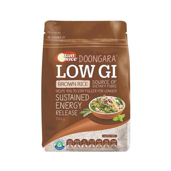 SunRice Brown Rice Low Gi 750g