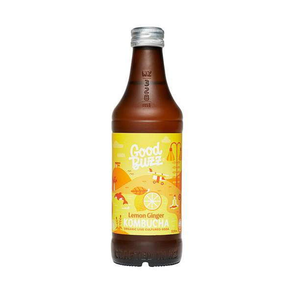 Good Buzz Kombucha Lemon Ginger 328ml