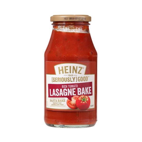Heinz Seriously Good Pasta Sauce Lasagne Pasta Bake 525g