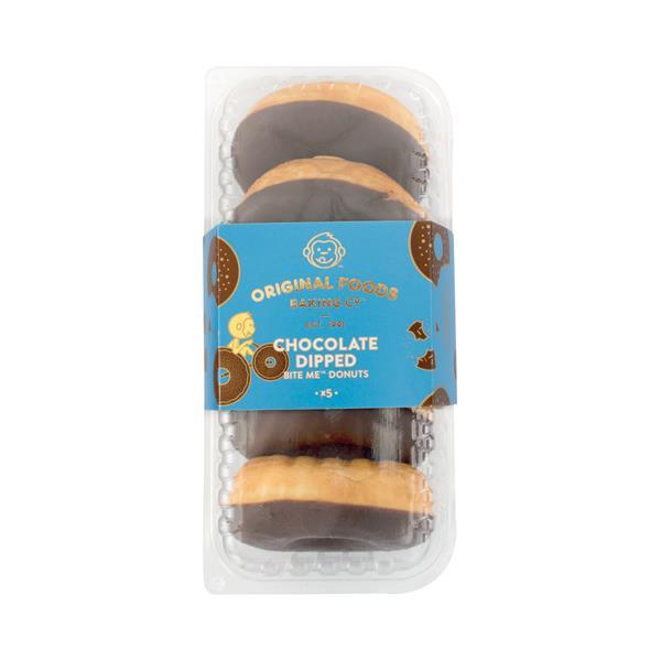 Original Foods Donuts Chocolate Dipped 5pk