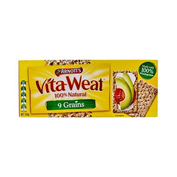 Arnott's Vita Weat Crispbread 9 Grains box 250g
