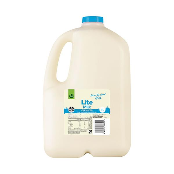 Countdown Milk Lite plastic bottle 3l