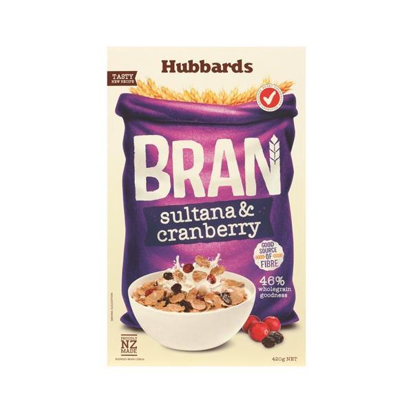 Hubbards Cereal Bran & Sultana 420g